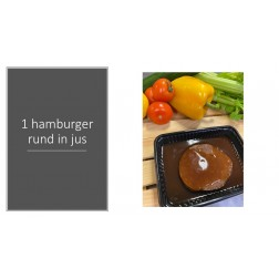 1 runder hamburger in jus